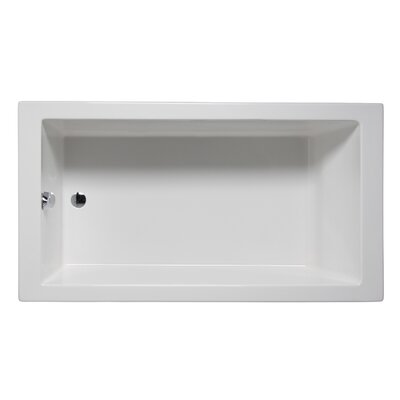 Wright 72 x 32 Drop in Soaker Bathtub Finish: White