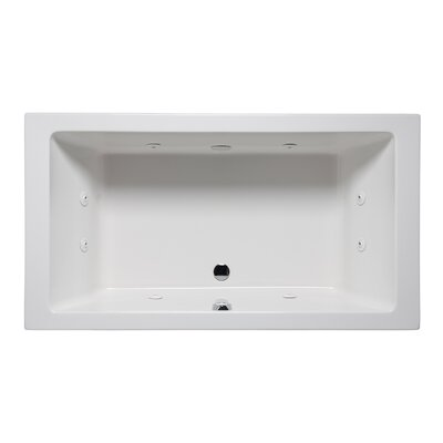 Vivo 66 x 42 Drop in Whirlpool Bathtub Finish: White