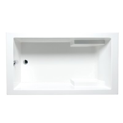 Nadia 72 x 36 Drop in Bathtub Finish: White