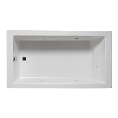 Wright 72 x 36 Drop in Whirlpool Bathtub Finish: Almond