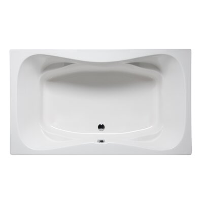 Rampart II 60 x 42 Drop in Soaking Bathtub Finish: Biscuit