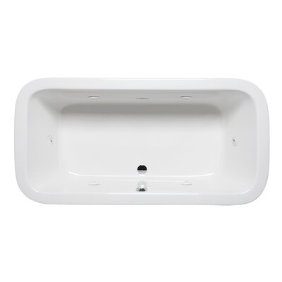 Nerissa 72 x 36 Drop in Whirlpool Bathtub Finish: Almond