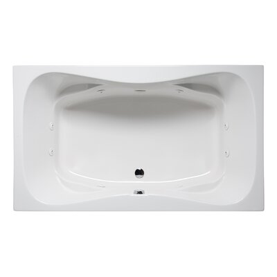 Rampart II 72 x 42 Drop in Whirlpool Bathtub Finish: Almond
