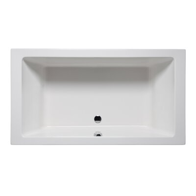 Vivo 72 x 36 Drop in Soaking Bathtub Finish: Biscuit