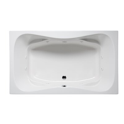 Rampart II 72 x 42 Drop in Whirlpool Bathtub Finish: White