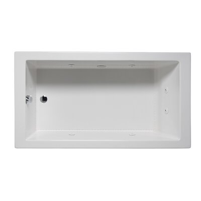 Wright 60 x 30 Drop in Whirlpool Bathtub Finish: White