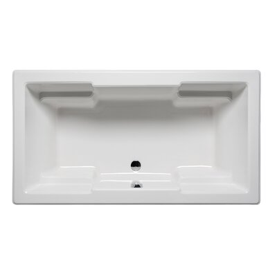 Quantum 72 x 36 Drop in Soaker Bathtub Finish: Biscuit