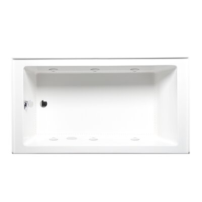 Turo 60 x 30 with Luxury Series and Airbath II System Alcove/Tile in Whirlpool Tub Color: White, Drain Location: Left