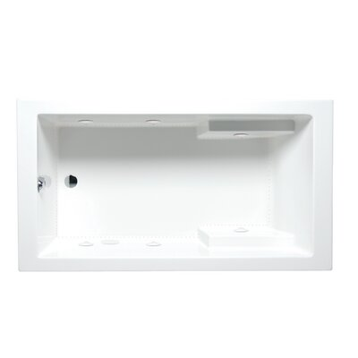 Nadia 72 x 36 Drop in Whirlpool Bathtub Finish: Almond