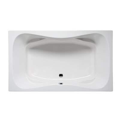 Rampart II 72 x 42 Drop in Bathtub Finish: Almond