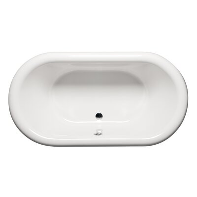 Rianna 71 x 35 Freestanding Soaking Bathtub Finish: White
