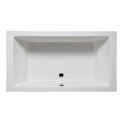 Vivo 72 x 36 Drop in Bathtub Finish: White