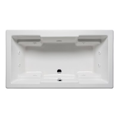 Quantum 72 x 42 Drop in Whirlpool Bathtub Finish: White