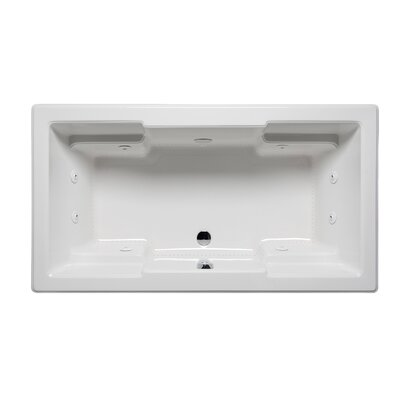 Quantum 66 x 36 Drop in Whirlpool Bathtub Finish: White