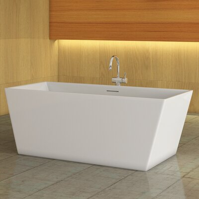 Glacion 62 x 30 Freestanding Soaking Bathtub Color: White