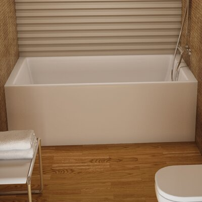 Turo 66 x 36 Soaking Bathtub Color: White, Drain Location: Right