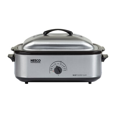 NESCO/American Harvest 4818-25PR 18-Quart Roaster Oven (Stainless Steel with Stainless Porcelain Cookwell)