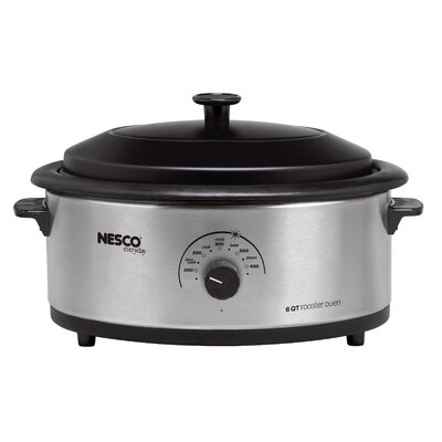 6-Quart Nonstick Roaster Oven Color: Stainless Steel 48162530