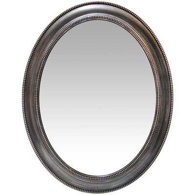 Oval Antique Silver Accent Mirror