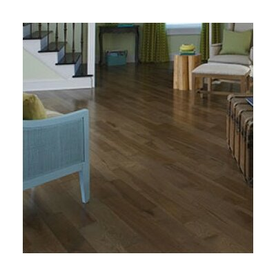 Color Strip 5 Solid Hickory Flooring in Moonlight