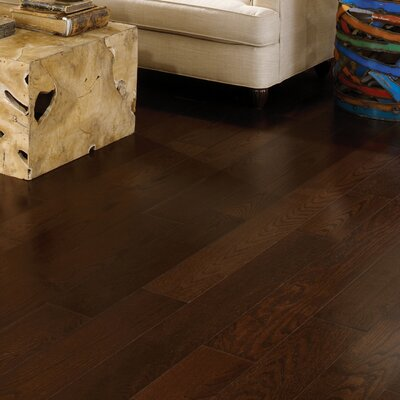 Wide Plank 7 Engineered Oak Hardwood Flooring in Midnight