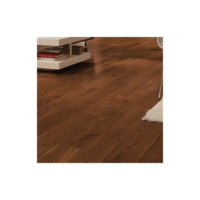 Wide Plank 7 Engineered Oak Hardwood Flooring in Gunstock