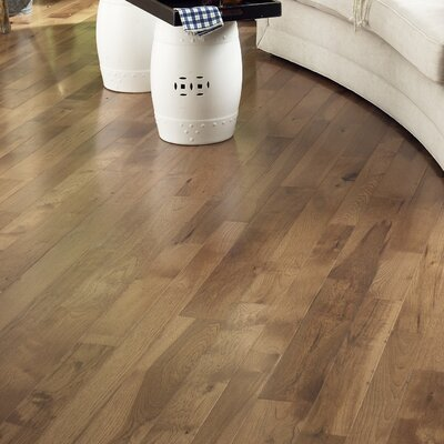 Character 5 Solid Hickory Hardwood Flooring in Ember