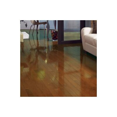 Color Strip 3-1/4 Solid Red Oak Hardwood Flooring in Gunstock High Gloss
