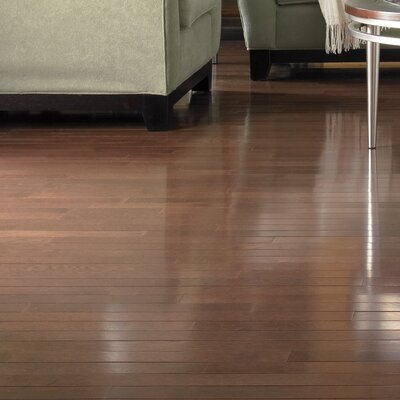 Color Plank 3-1/4 Engineered White Oak Hardwood Flooring in Metro Brown