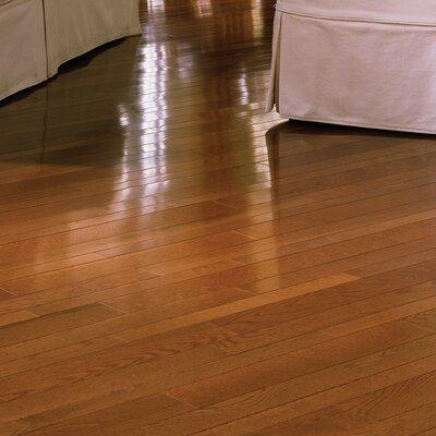 Color Plank 3-1/4 Engineered White Oak Hardwood Flooring in Gunstock