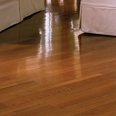 Color Plank 5 Engineered White Oak Flooring in Gunstock