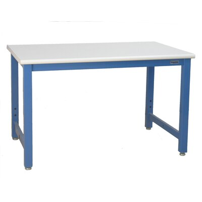 """Bench Pro Harding Formica Laminate Top Workbench - Frame Finish: Beige, Laminate Top Finish: Black, Size: 30"""" x 96"""" at Sears.com"""