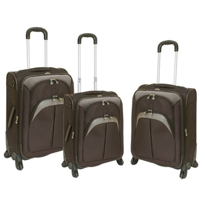 Travelers Club Lexington 3 Piece Expandable Spinner Luggage Set - Color: Green at Sears.com