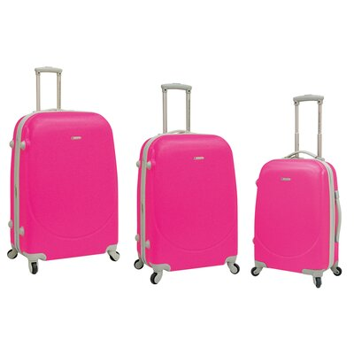 Travelers Club Barnet 3 Piece Expandable ABS Set with 360� 4-Wheels System - Color: Neon Pink at Sears.com