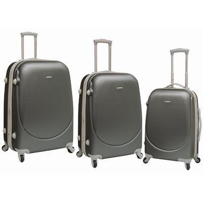Travelers Club Barnet 3 Piece Expandable ABS Set with 360� 4-Wheels System - Color: Gray at Sears.com