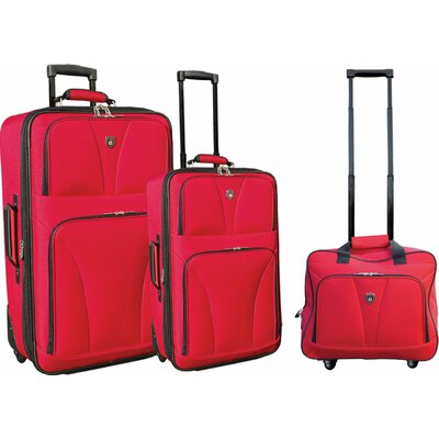 Travelers Club Bowman 3 Piece Expandable Luggage Set - Color: Blue at Sears.com
