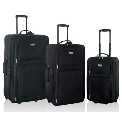 Travelers Club Genova 3 Piece Expandable Luggage Set - Color: Black at Sears.com
