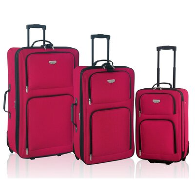 Travelers Club Genova 3 Piece Expandable Luggage Set - Color: Red at Sears.com