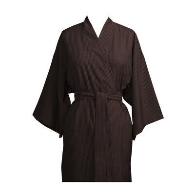 Telegraph Hill Luxury Lightweight Soft Microfiber Spa Bathrobe Size: One Size Fits Most, Color: Chocolate