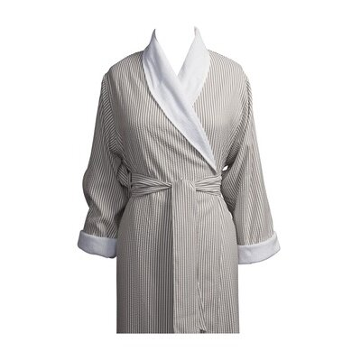 Telegraph Hill Luxury Double Layer Soft Microfiber Spa Bathrobe Size: Large, Color: Taupe