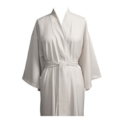 Telegraph Hill Luxury Lightweight Soft Microfiber Spa Bathrobe Size: X-Large, Color: Stone
