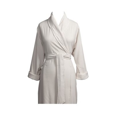 Telegraph Hill Luxury Double Layer Soft Microfiber Spa Bathrobe Size: Large, Color: Stone