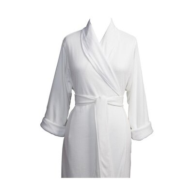 Telegraph Hill Luxury Double Layer Knit Weave Microfiber Spa Bathrobe Size: Large