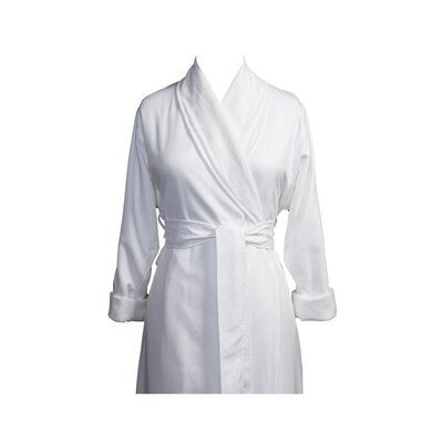Telegraph Hill Luxury Double Layer Silky Microfiber Spa Bathrobe Size: Small, Color: White