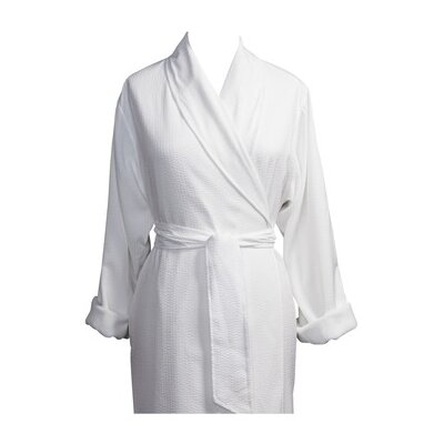 Telegraph Hill Luxury Double Layer Soft Microfiber Spa Bathrobe Color: White, Size: Medium