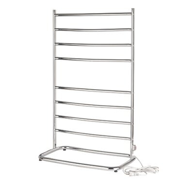 Warmrails Hyde Park Free Standing Towel Warmer Rack Finish: Chrome