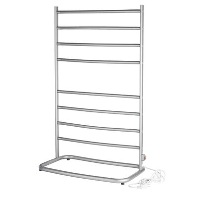 Warmrails Hyde Park Free Standing Towel Warmer Rack Finish: Nickel