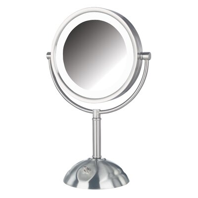 Dual Sided Lighted LED Vanity Mirror Finish: Nickel