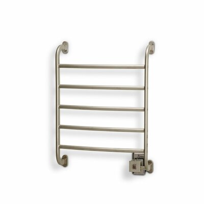 Warmrails Regent Wall Mount Towel Warmer Rack Finish: Nickel