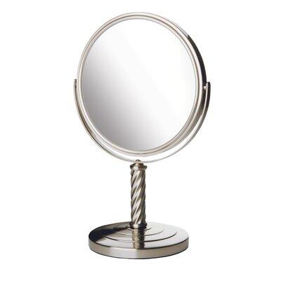 Jerdon Dual Sided Vanity Mirror - Finish: Nickel